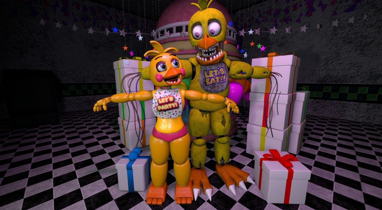 Toy Chica and Withered Chica remake! | My Sfms!!! | Toys