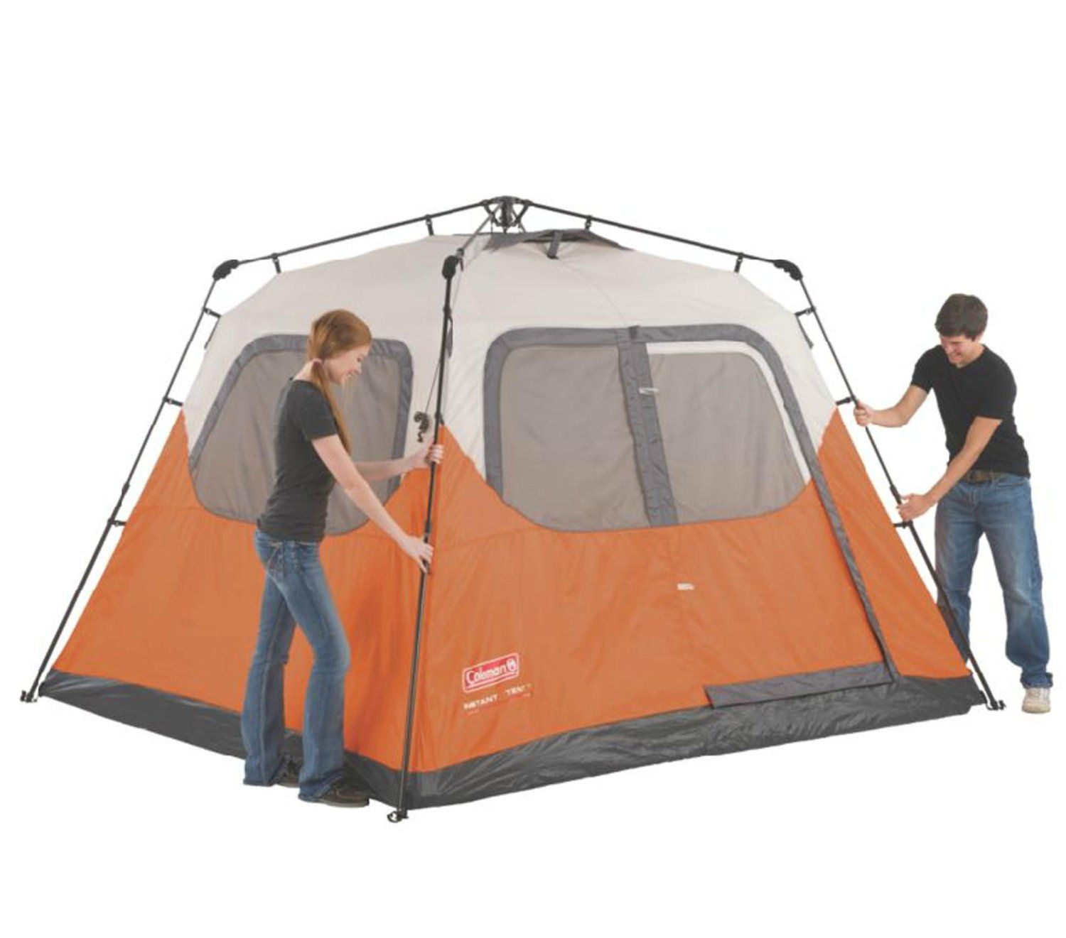 Buy Coleman 4 Person Instant Family C&ing Tent + Shelter w/Porch  sc 1 st  Pinterest & Amazon.com : Coleman Waterproof 10 X 9-Feet 6-Person Instant Tent ...