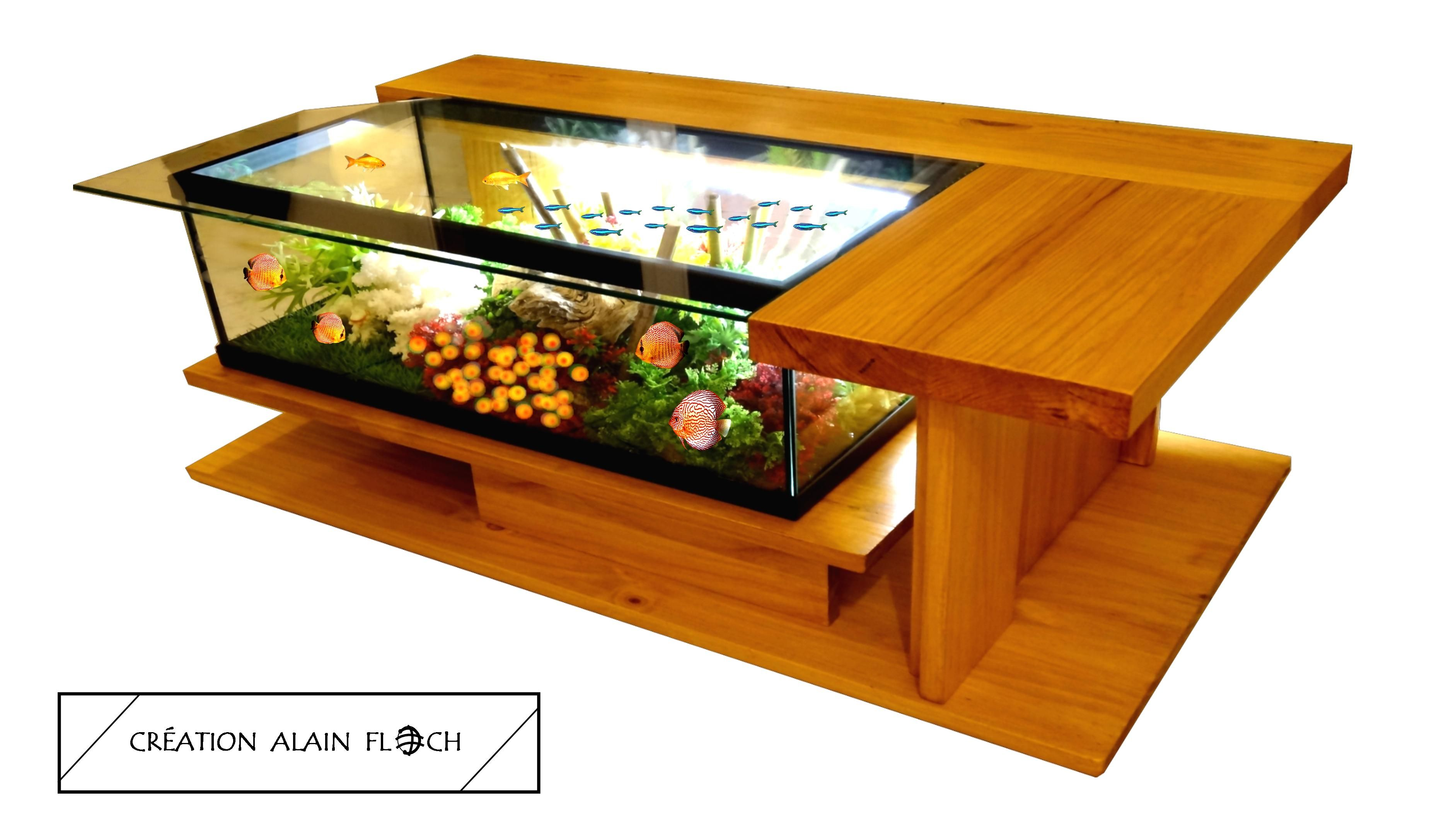 Table basse aquarium AMAZONE SUPREME | Table basse aquarium ...
