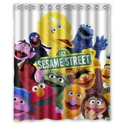 Robot Check Custom Shower Curtains Sesame Street Sesame Street