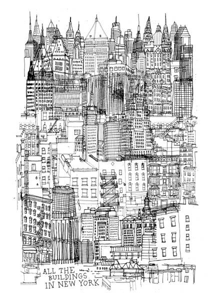 All The Buildings In New York Art By James Gulliver Hancock Nyc
