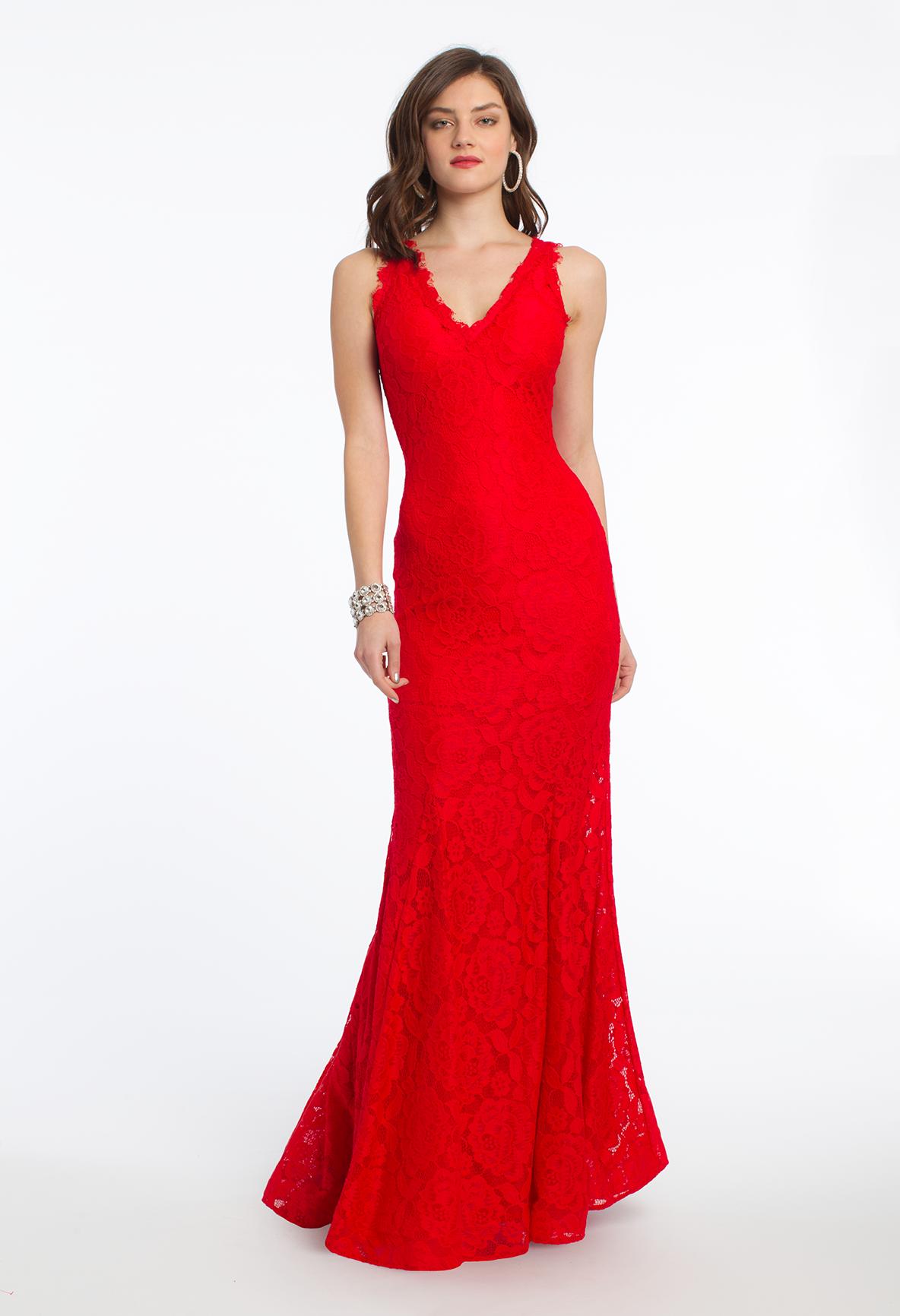 Rose lace v neck tank dress
