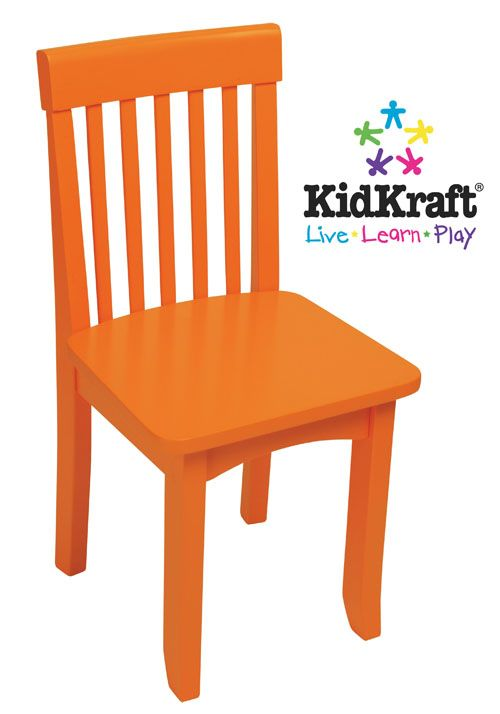 kidkraft avalon chair tangerine i love orange pinterest kidsroom