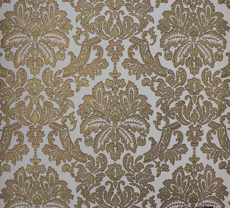 S Vintage Wallpaper Gold Metallic By Rosieswallpaper On Etsy