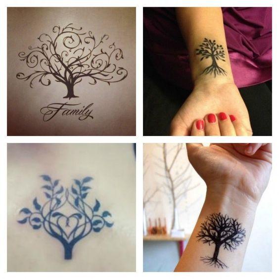 Albero Genealogico simbolo da tatuare che rappresenta la Famiglia Tattoos  With Kids Names, Sun Tattoos