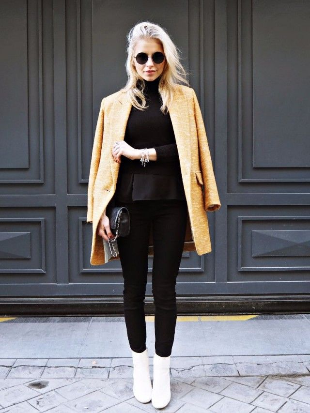 1f71c402c8571 Mustard is the ultimate colour for a cute winter outfit! Caroline Daur is wearing  the