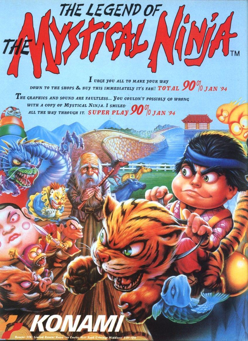 The Legend of the Mystical Ninja (1991) Retro video