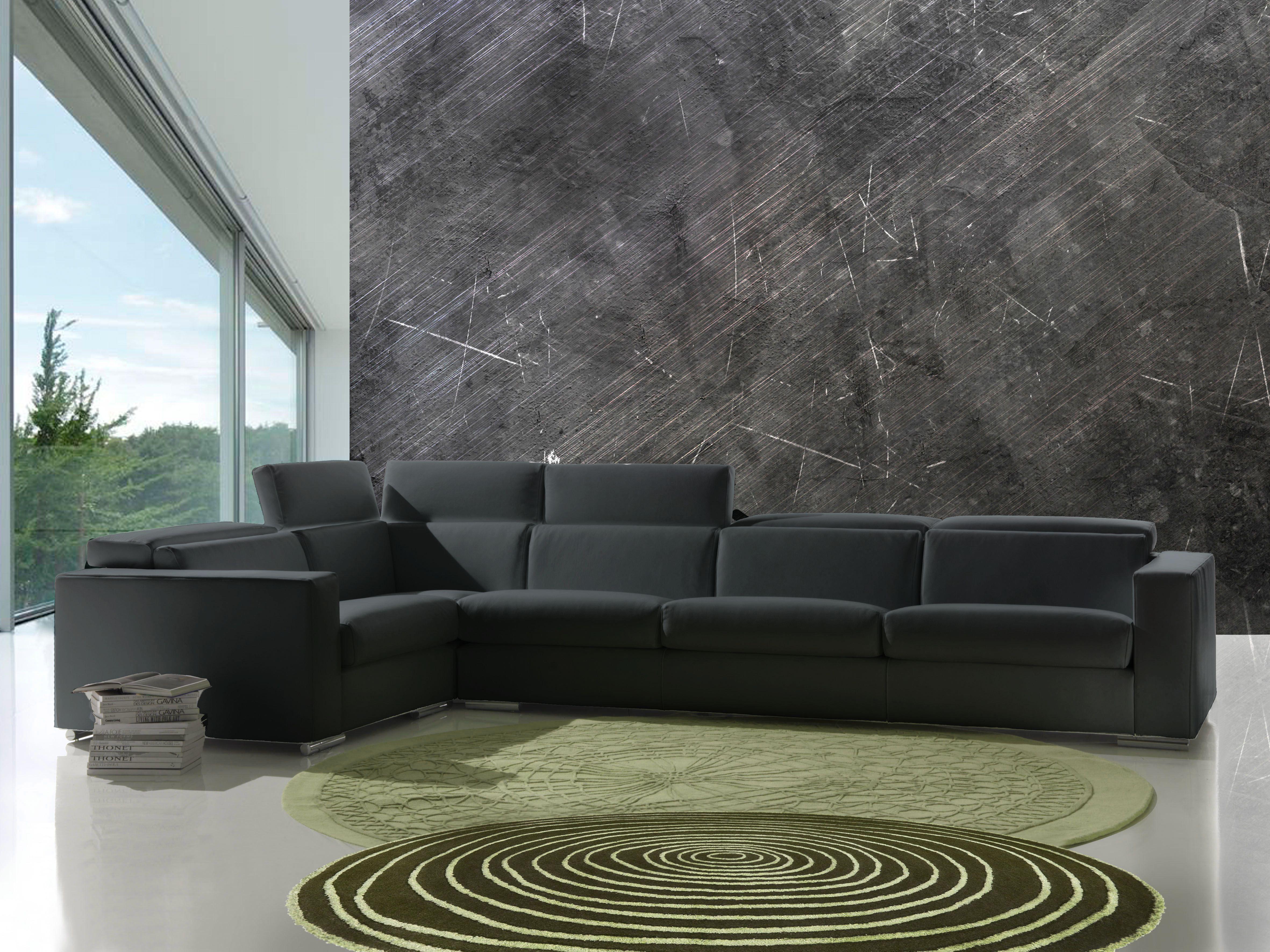 divano angolare torino color antracite produzione
