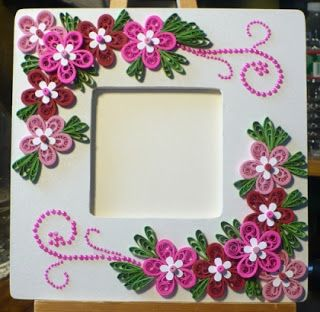 Let   create decorated foam board photo frame quilling craft patterns ideas also best frames images cadre do crafts rh pinterest