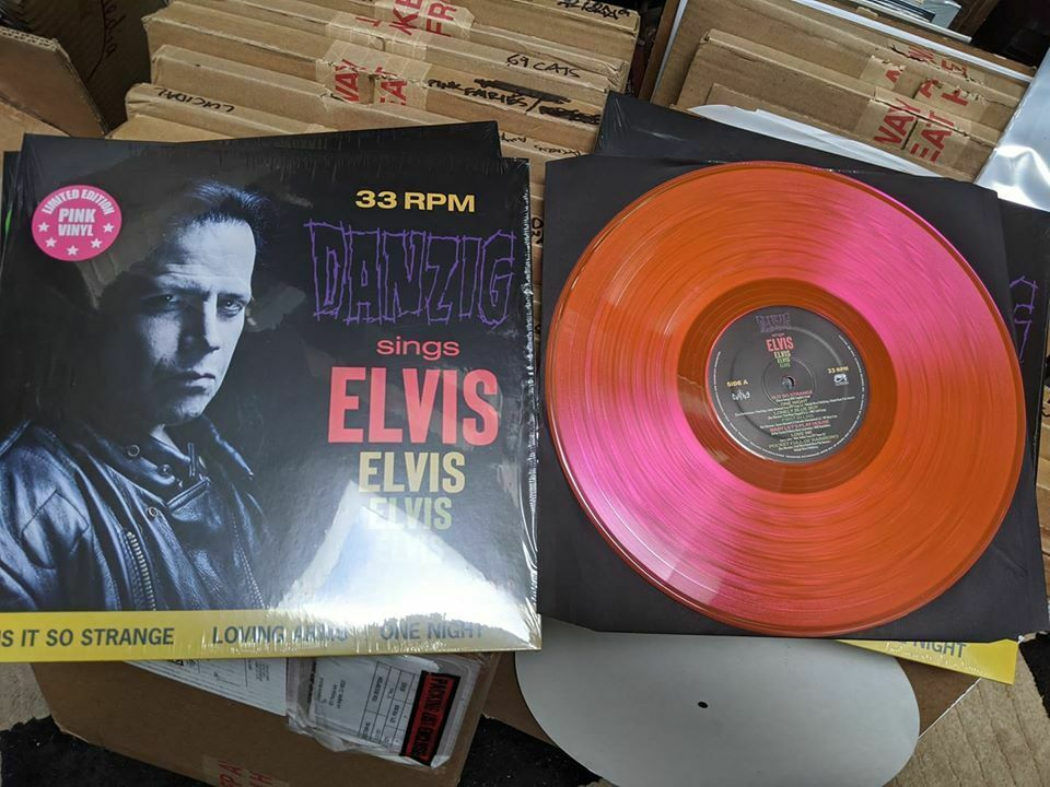 Danzig Sings Elvis Limited Edition Gatefold Vinyl Pink Vinyl Lp Presley Fever In 2020 Buy Vinyl Records Vinyl Records Vinyl