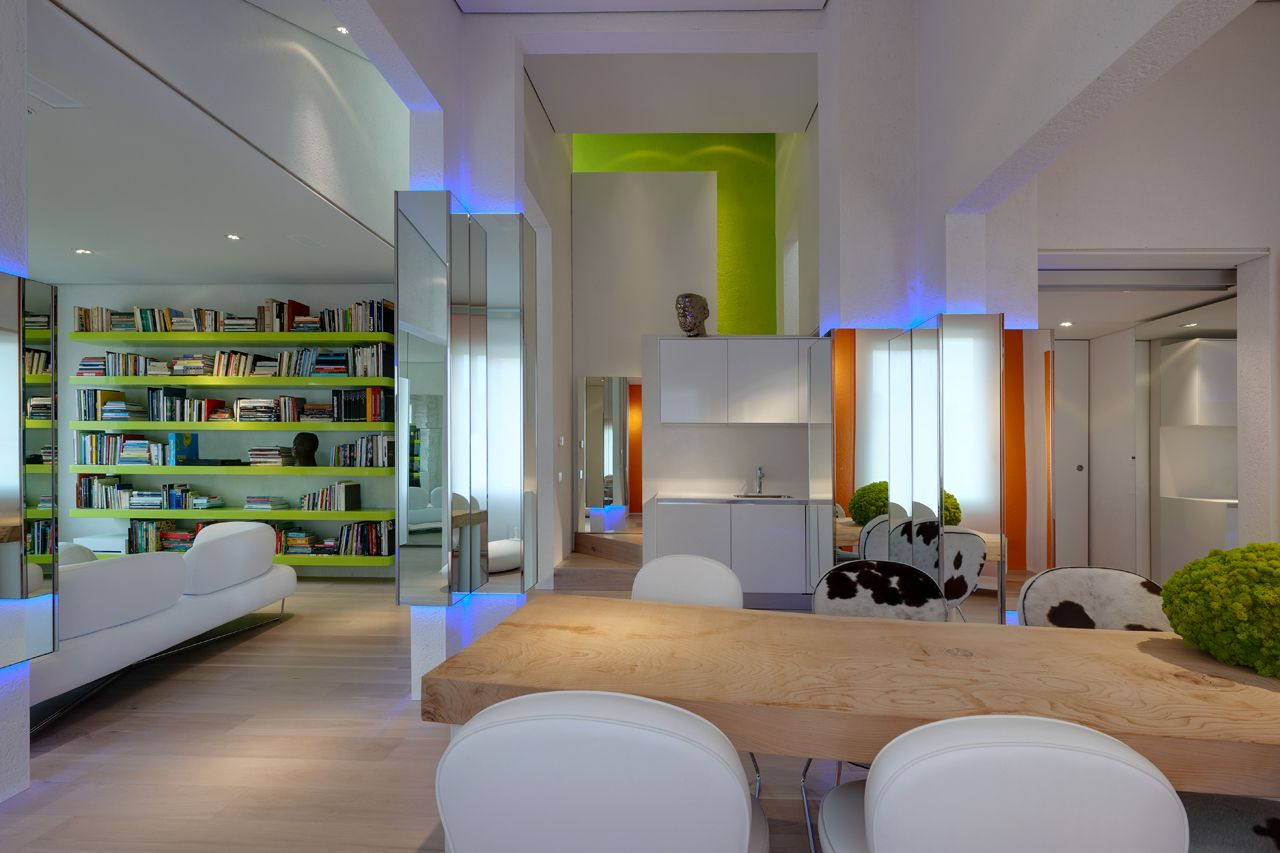 Simone micheli casa con vista firenze italia living room