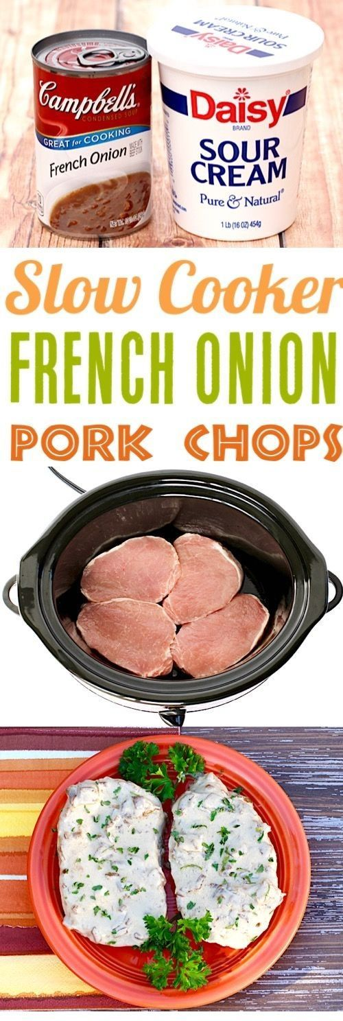 French Onion Pork Chops Get ready for some decadent chops when you make this sup French Onion Pork Chops Get ready for some decadent chops when you make this sup