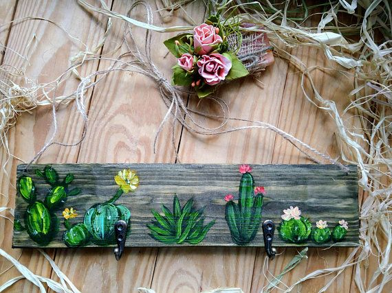 This Item Is Unavailable Etsy Cactus Painting Painting On Wood Barn Wood Crafts