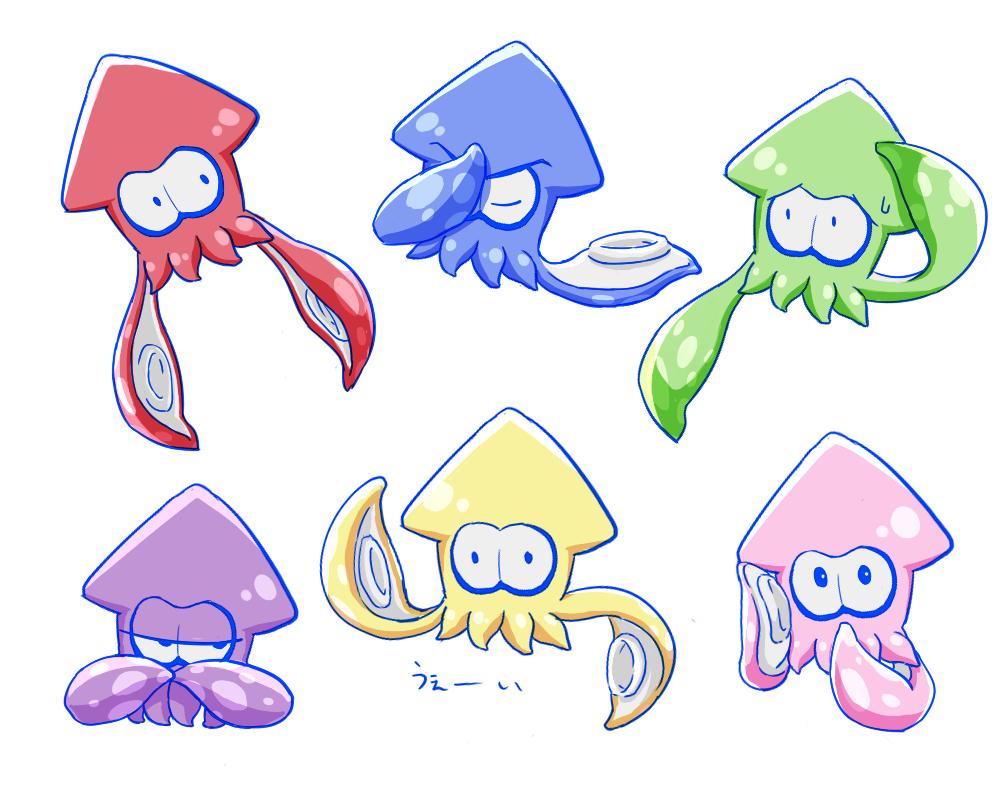 Still Expressive As Squids Splatoon Splatoon Splatoon Squid Easy Drawings