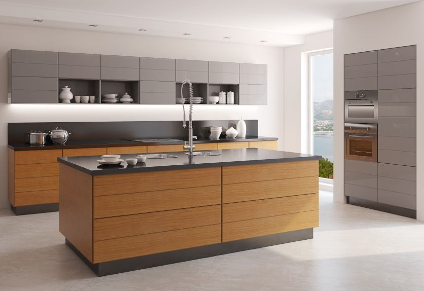 grey and timber kitchen 2016 | Fred\'s | Pinterest | Timber kitchen ...
