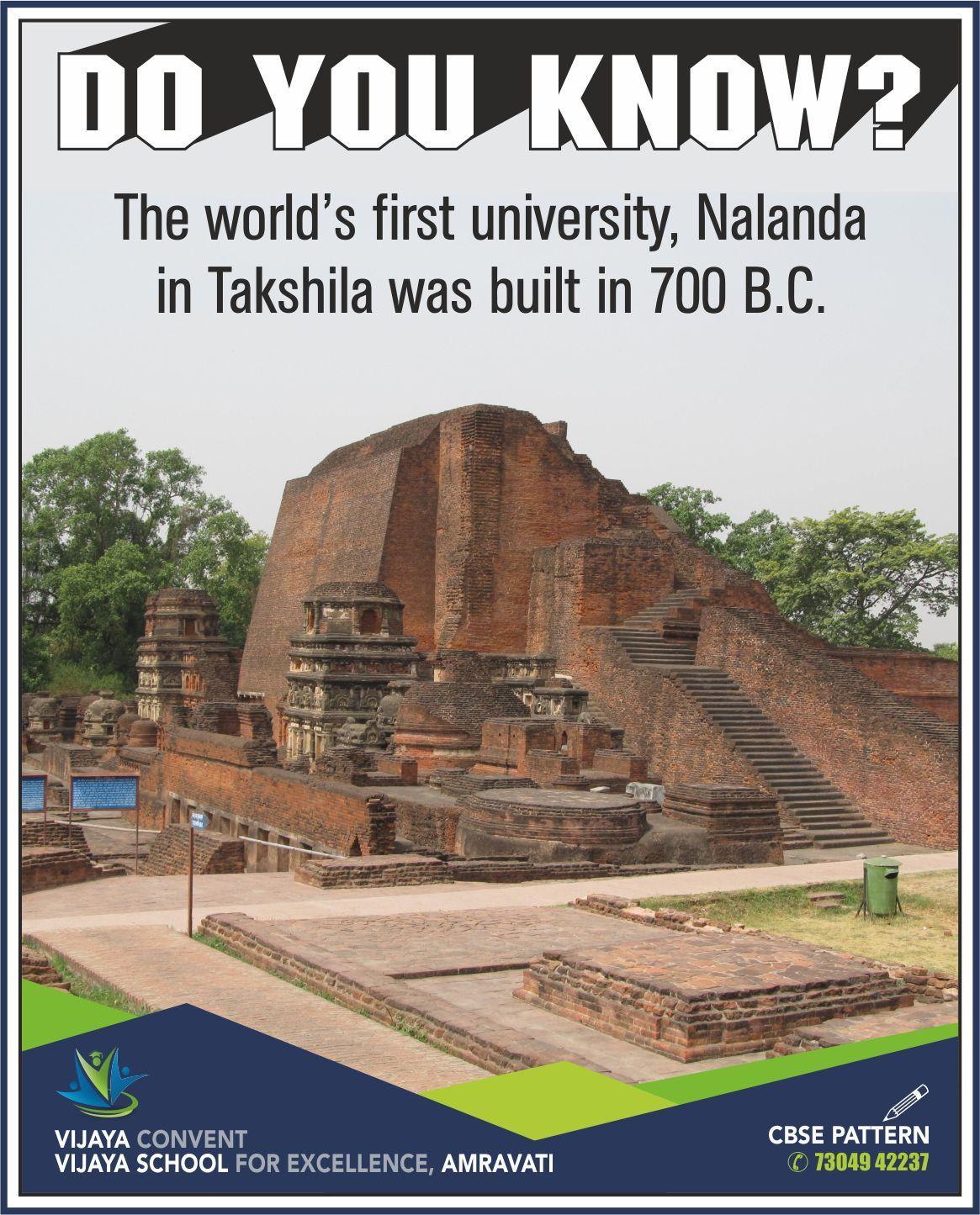 The World S First University Nalanda In Takshila Was Built In 700