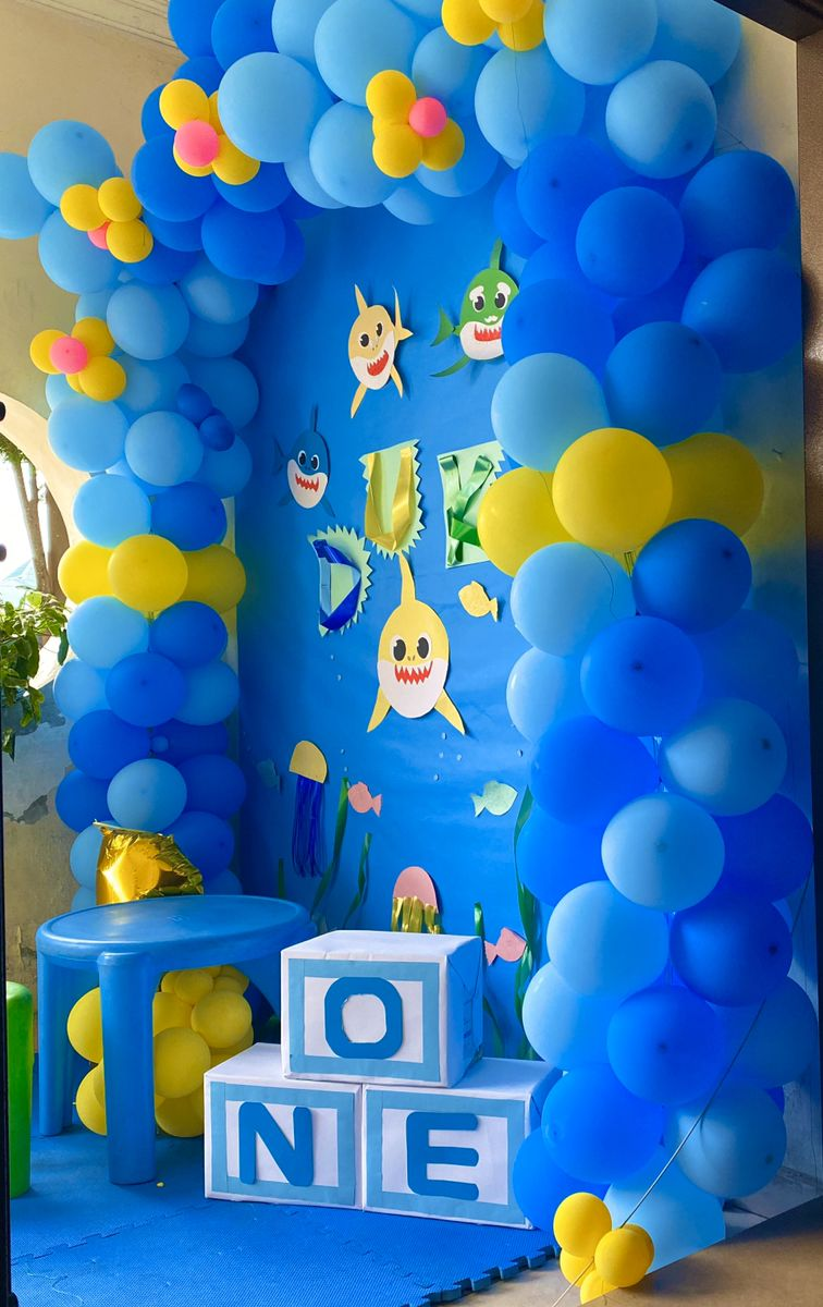 Baby Shark Party Ideas Baby Boy Birthday Cake Baby Boy Birthday Themes Birthday Themes For Boys