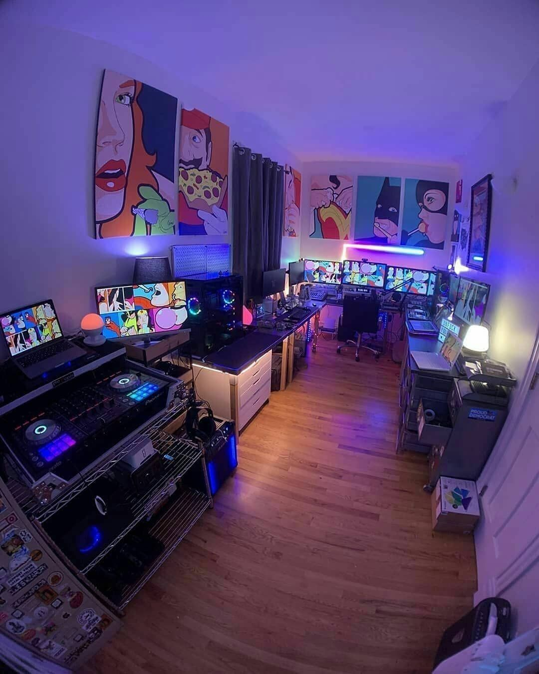 20 Tips Will Help You Improve The Environment In Your Bedroom Who Needs A Room Like This Game Room Design Gaming Room Setup Gamer Room