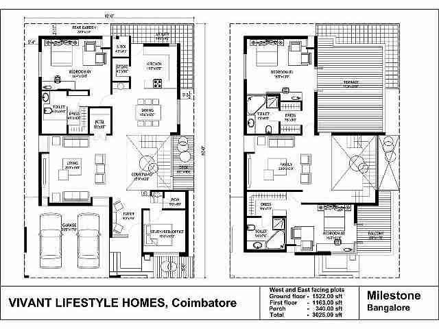 Https Newprojects 99acres Com Projects Vivant Lifestyle Homes Pvt Ltd Villa Grande Coimbatore Maps Mobi Duplex House Plans Model House Plan West Facing House
