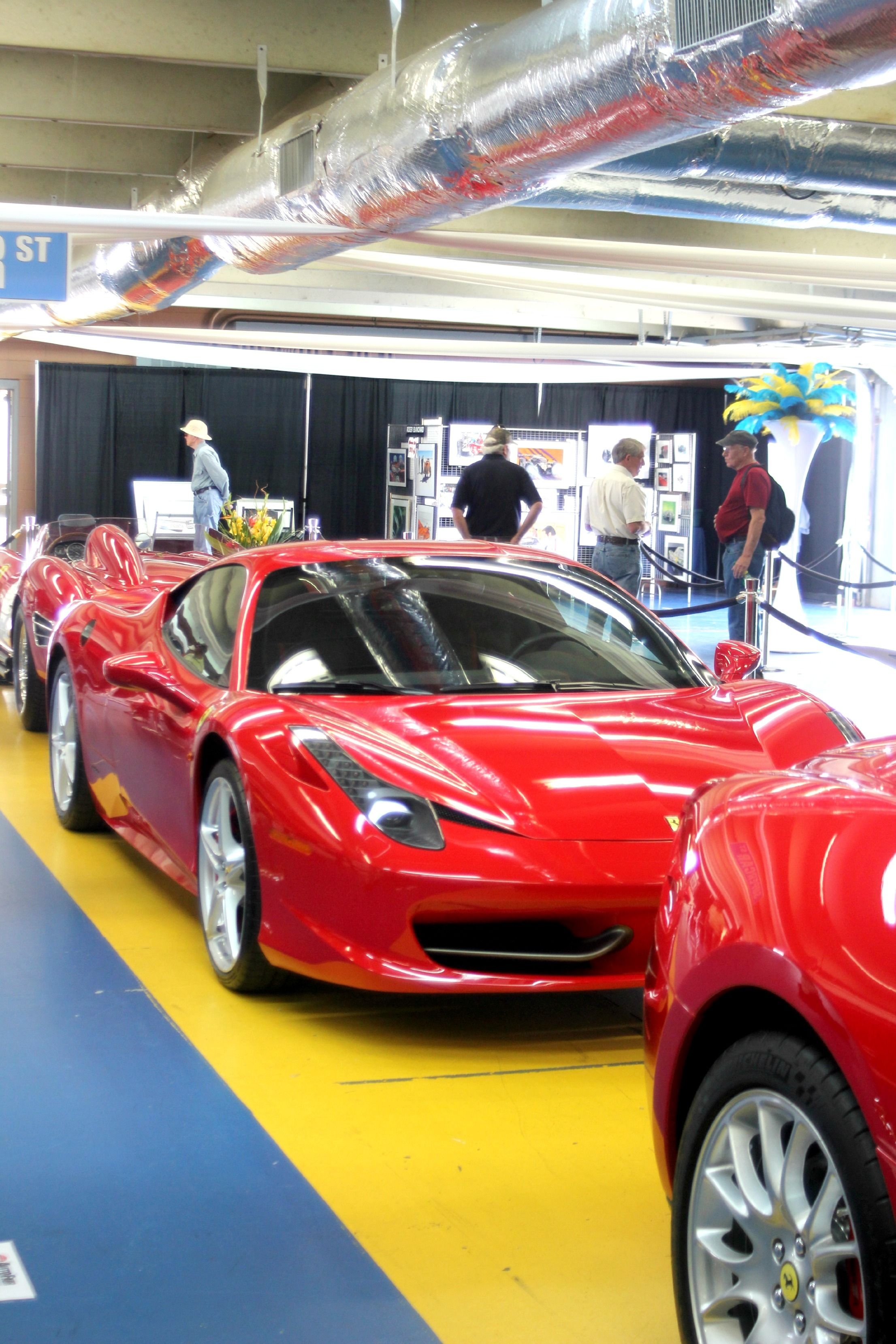 can 39 t be a car show without a red ferrari at charlotte. Black Bedroom Furniture Sets. Home Design Ideas