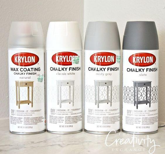 Chalk Paint Finish Now In A Spray Paint Game Changer Cera Para Muebles Como Pintar Muebles Pintura En Aerosol Dorada