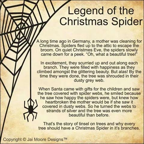 Legend of the Christmas spider | Christmas | Pinterest | Spider ...