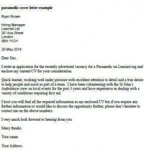 Pin by Steve Smith on EMS stuff | Cover letter example, Application ...