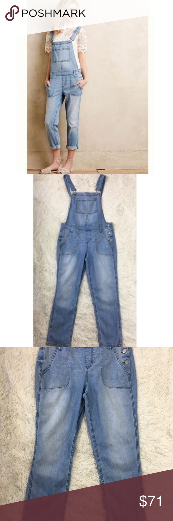 14c27af3a6d Anthropologie Level 99 Lily Jean Denim Overalls M Anthropologie Level 99 Lily  Jean Denim Overalls sz Medium Light Wash M Inseam is 26 inches d267 Level  99 ...