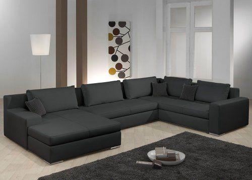 Wohnlandschaft Hiltano Schwarz B T H 378x240x83 Cm Living Room