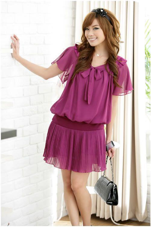 Casual Purple Dresses for Women