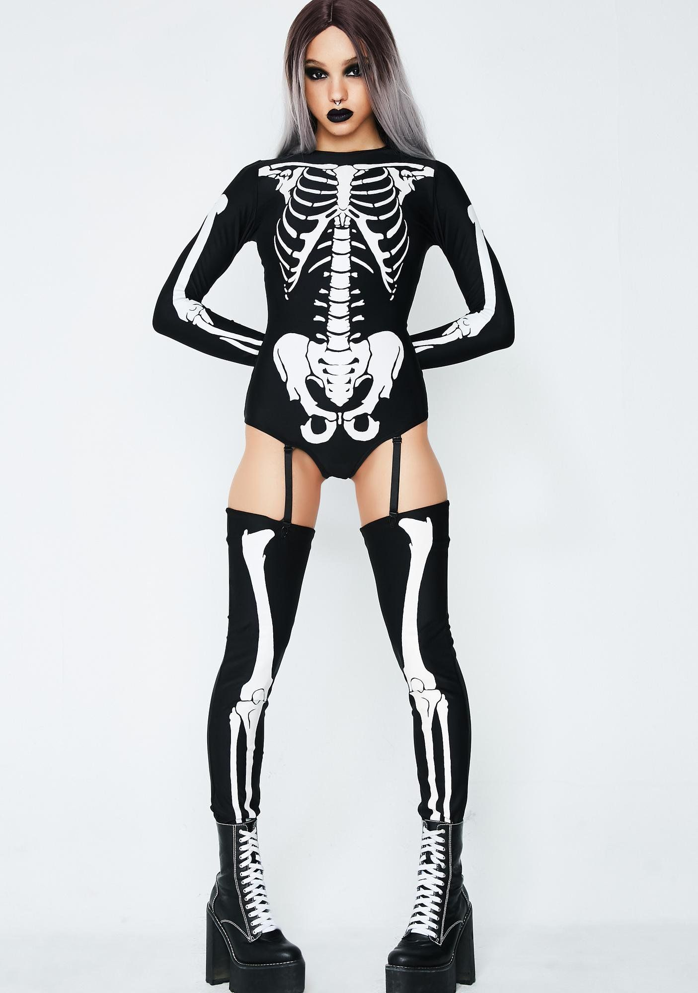 e53310d9d4 Bad To The Bone Skeleton Costume cuz yer trouble goes bone deep! This long  sleeve