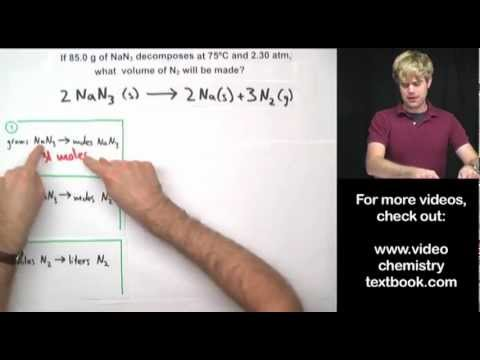 Gas Stoichiometry Equations Part 2 YouTube in 2020