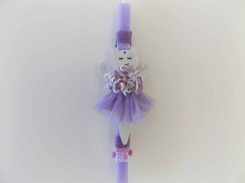 Easter candle cat girls easter gift godchild gift greek easter easter candle cat girls easter gift godchild gift greek easter candle scented negle Images