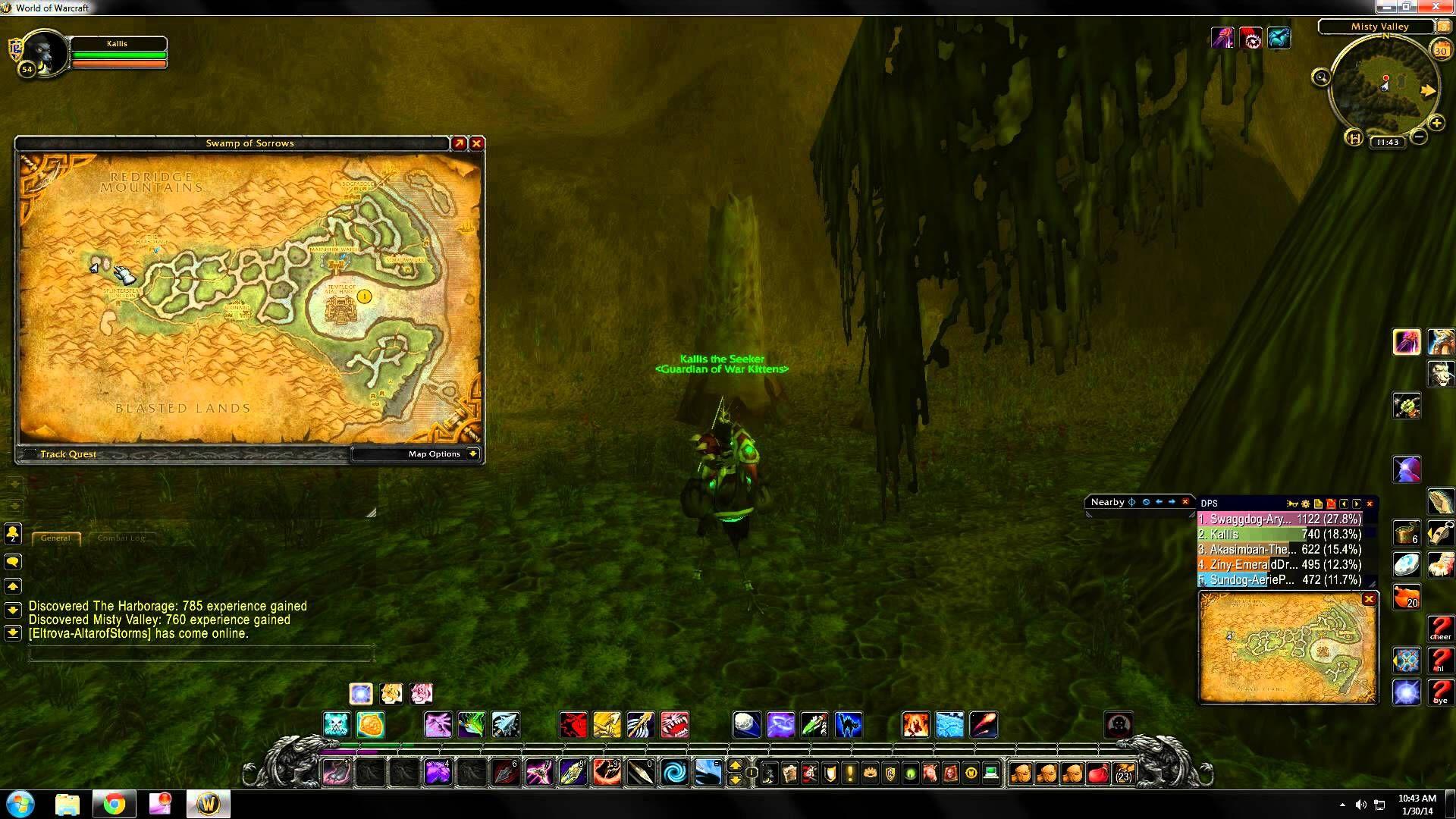 World of Warcraft rare hunter pet locations Swamp of