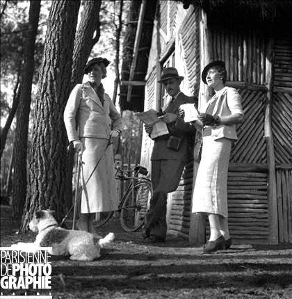 paris Chasse à courre. Segré (Maine-et-Loire), septembre france elegance model1934