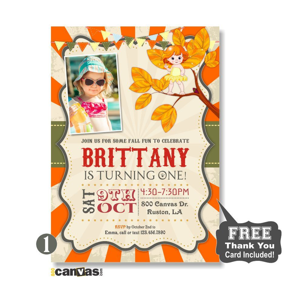 Fall birthday invitation pumpkin invite photo girls boys panda autumn birthday invitation fall party invites fall photo birthday invite girls birthday party invitations fall fairy garden party 238 by 800canvas on filmwisefo