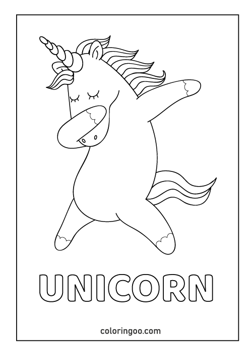 Unicorn Printable Coloring Page Pdf Printable Coloring Book Unicorn Printables Coloring Pages