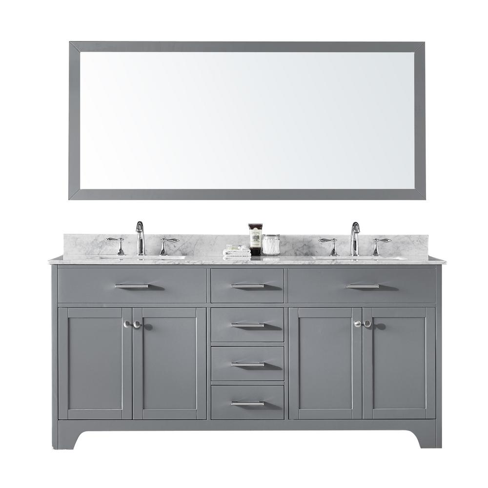Exclusive Heritage 72 In Double Sink Bathroom Vanity In Taupe