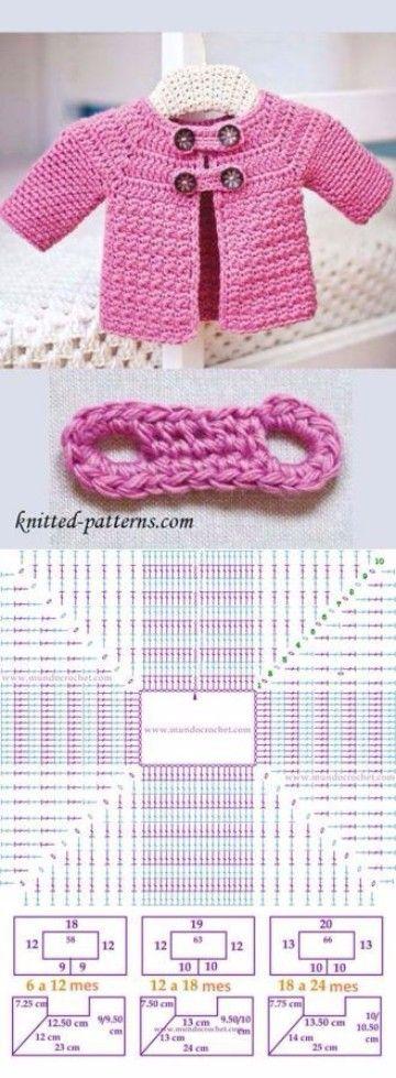 Imagenes y patrones de buzos tejidos a crochet | cosas para bebes ...
