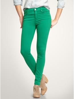 Gap - Green Skinnies --they are SO COMFORTABLE!!!
