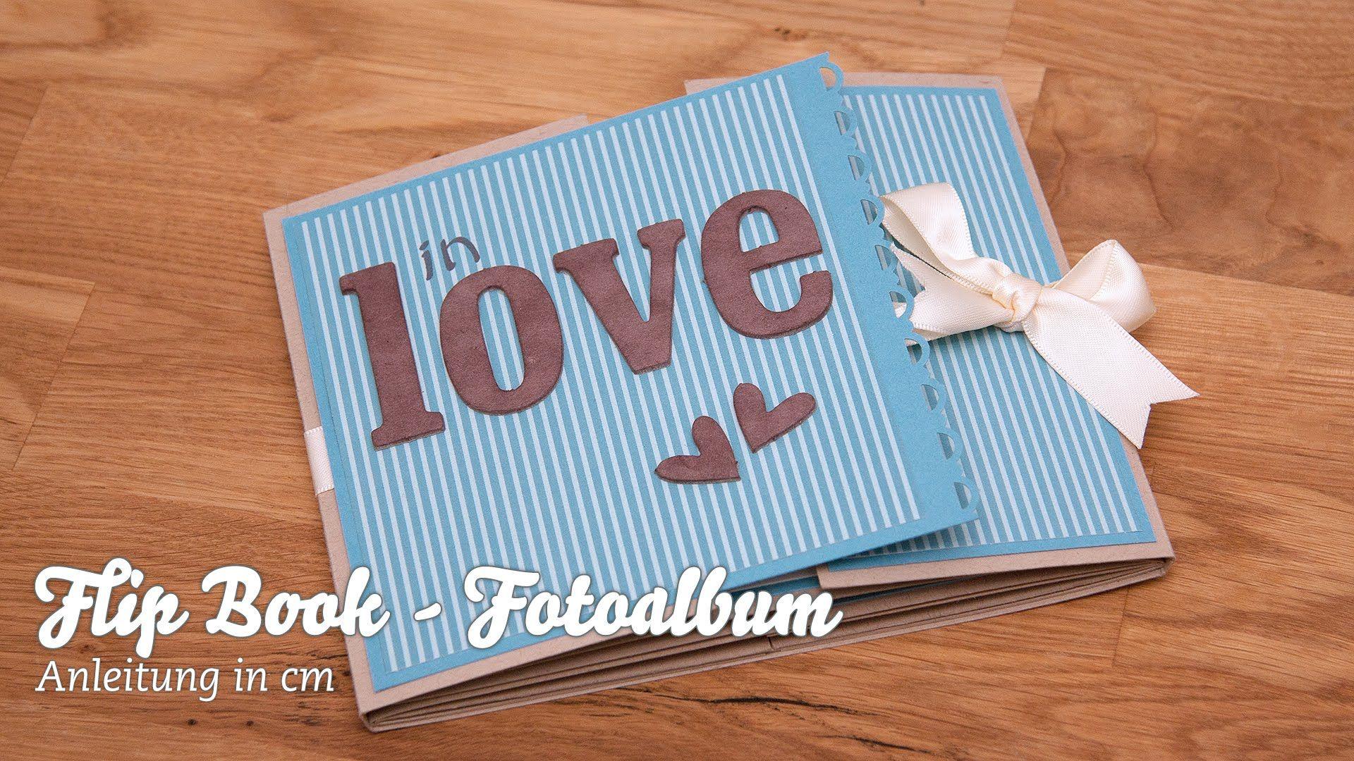 flip book fotoalbum selber basteln crafts videos bastelarbeiten videos pinterest album. Black Bedroom Furniture Sets. Home Design Ideas