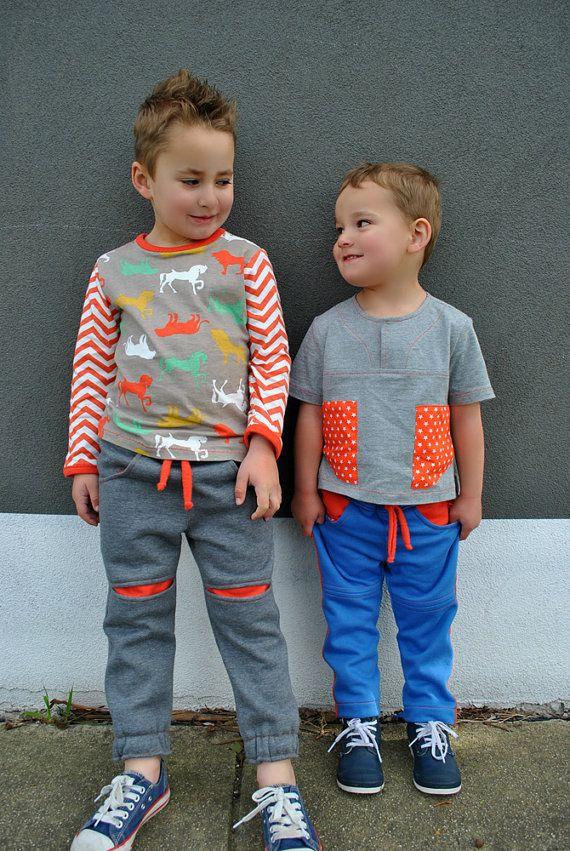 Boys fleece pants sewing pattern Roscoe Pants kids pdf sewing ...