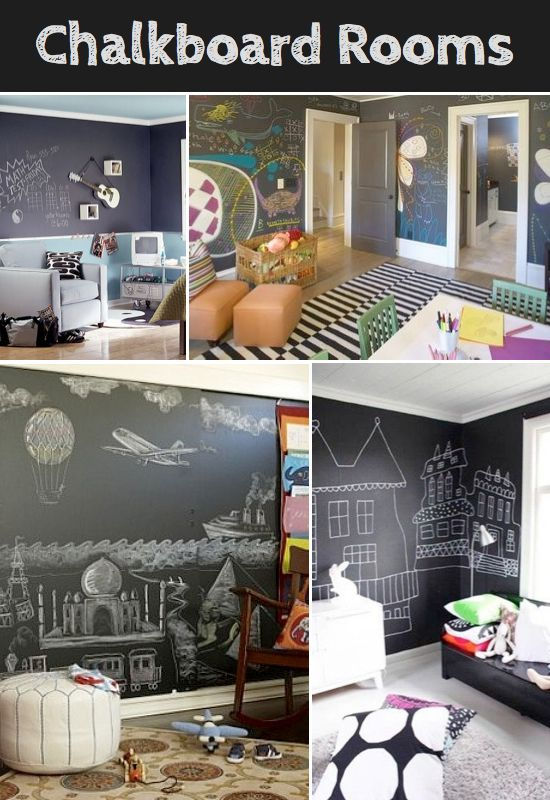 Chalkboard Paint Ideas/ would be cool for a play room