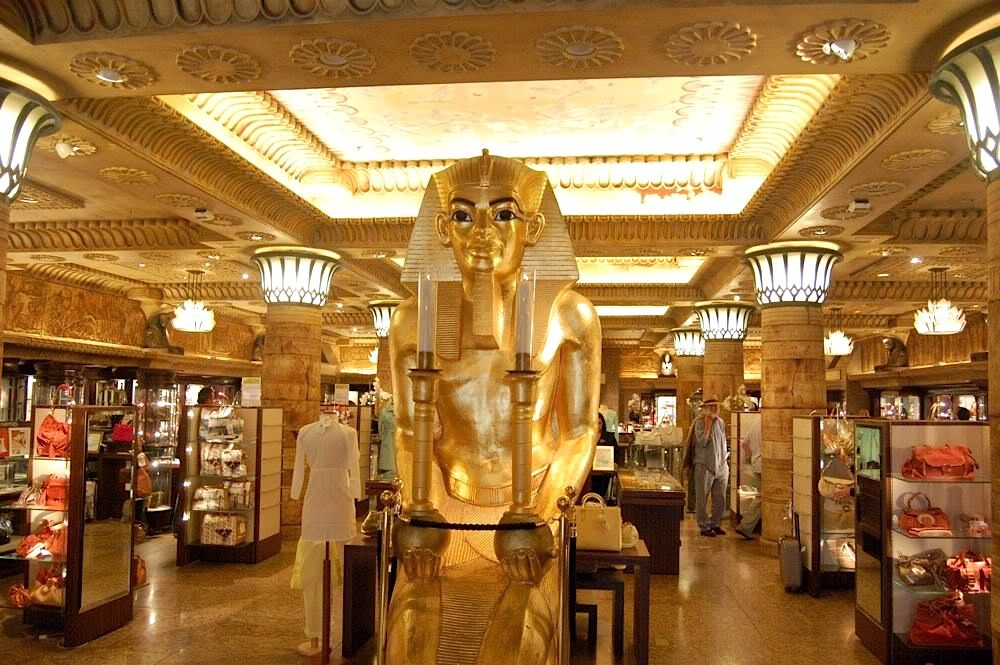 Harrods interior | Harrods.... Art Deco and egyptian...what\'s not to ...