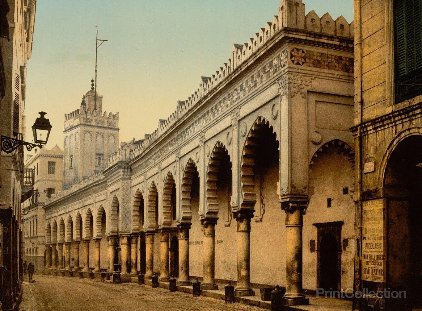 Great Mosque In The Marine Street Algiers Algeria Moorish Architecture Mosque Moorish
