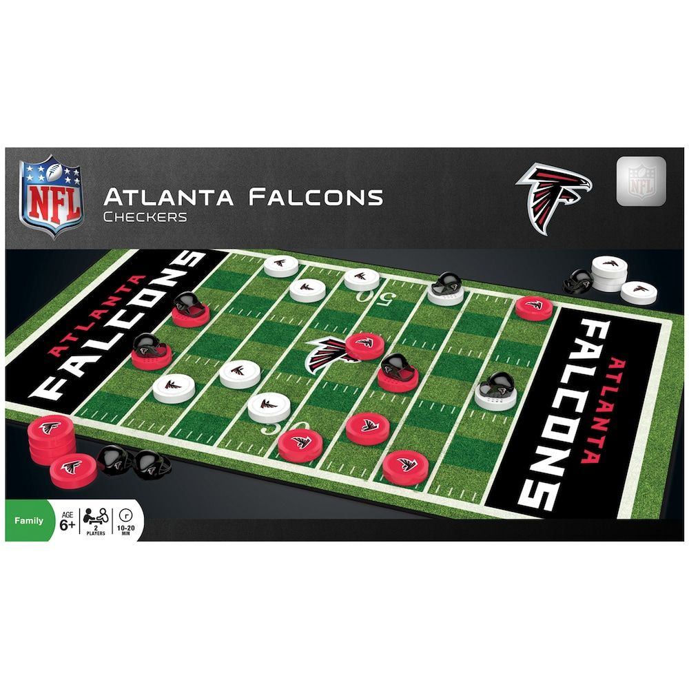 Atlanta Falcons Checkers Board Game Checkers Board Game Atlanta Falcons Classic Board Games