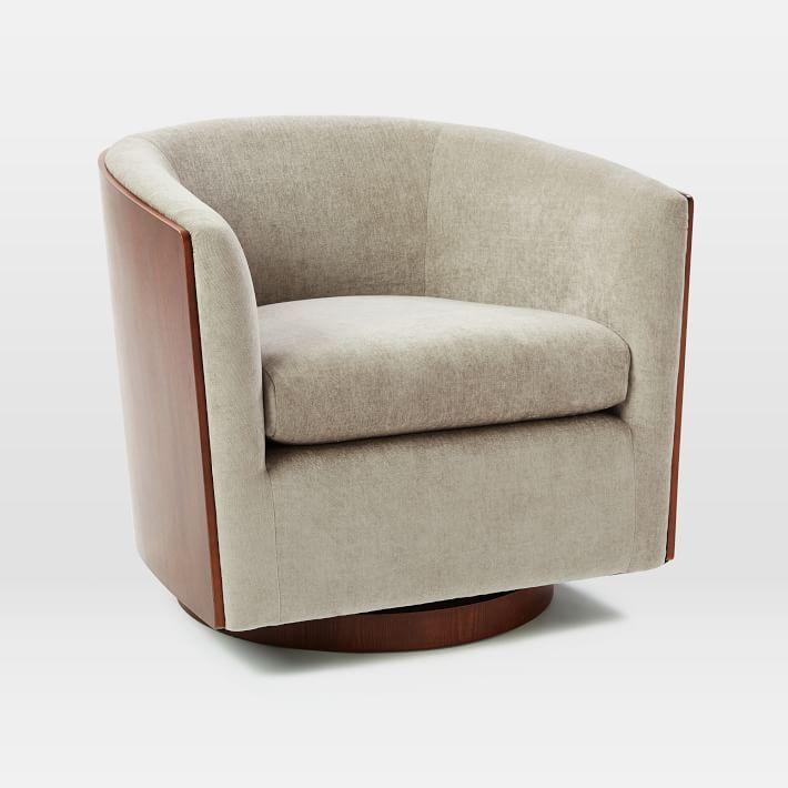swivel chair west elm white wicker chairs luther in 2018 1806 beardsley pinterest
