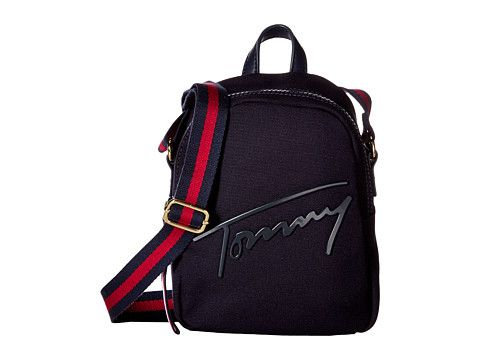 a37074a6024 TOMMY HILFIGER Tommy Script Mini Crossbody Backpack Canvas.  tommyhilfiger   bags  leather  canvas  backpacks