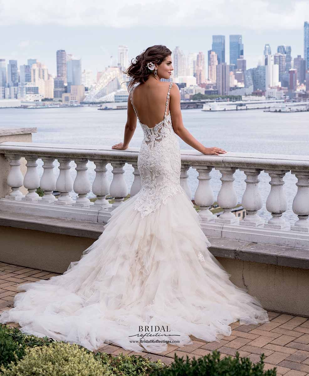 Mermaid wedding dresses with feather bottom  Eve of Milady Couture  Bridal Reflections  Wedding  Pinterest