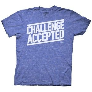 Super für nen Jungesellenabschied!  How I Met Your Mother Challenge Accepted T-Shirt - Blue